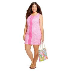a114d26b6ca Lilly Pulitzer for Target See Ya Later Pink Shift Dress 24W PLUS