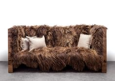 long wool sofa by sentient