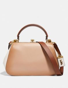 2e7554ede6b Coach Frame Bag in Colorblock Beechwood/Brass Women Bags Satchels &  Carryalls Frame Bag,