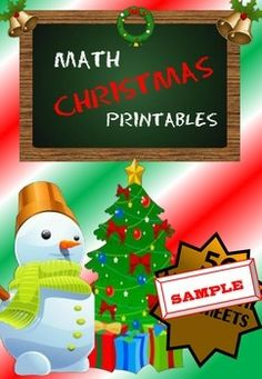 FREEBIE! Receive two free Christmas Math No Prep Printables.These are part of my No Prep Christmas Merry Math Printable Pack (50 Worksheets).Find the 50 page pack HERE!If you like this product don't forget to follow my store for future FREE products by clicking the little green star!, which you can find near my store name.