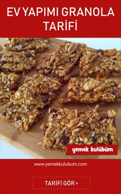 Ev Yapımı Granola Tarifi – sağlıklı yemekler – Las recetas más prácticas y fáciles Healthy Snacks For Kids, Healthy Desserts, Healthy Cooking, Quinoa Breakfast, Granola, Diet And Nutrition, Clean Eating, Homemade Recipe, Food