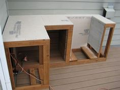 to Build Outdoor Kitchen Cabinets? How to Build Outdoor Kitchen Cabinets?How to Build Outdoor Kitchen Cabinets? Build Outdoor Kitchen, Outdoor Kitchen Countertops, Backyard Kitchen, Outdoor Kitchen Design, Outdoor Cooking, Backyard Patio, Outdoor Kitchens, Bbq Island, Outdoor Projects