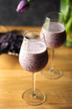 Blueberry, ice cream, and white wine, this blueberry cream wine slush has got all your favorite things together. Blueberry Wine, Blueberry Ice Cream, Fun Drinks Alcohol, Sangria Recipes, Cocktail Recipes, Wine Cocktails, Sweets Recipes, Desserts, Kitchen Recipes