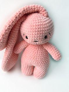 Crochet Toys Bunny & Co by CrochetToysBunnyCo Kawaii Crochet, Crochet Bunny, Cute Crochet, Crochet Crafts, Crochet Dolls, Yarn Crafts, Crochet Projects, Knit Crochet, Easy Crochet Animals