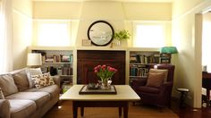 craftsman fireplace with bookcases - Google Search