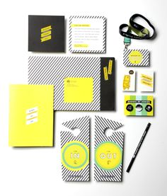Fluorescent ink plus pattern Ringling College Acceptance Package