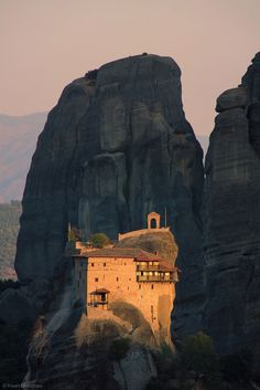 Meteora Monastery, Greece. 1X - The Illumination by Kevin Bleasdale
