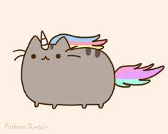 Pusheen the cat * ¡Nyan Cat (arriba)! Kawaii Blog, Kawaii 365, Chat Kawaii, Mode Kawaii, Nyan Cat, Gif Pusheen, Pusheen Love, Unicorn Cat, Rainbow Unicorn