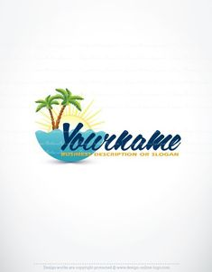 Free travel logo generator online plane flying logo pinterest exclusive design beach travel logo compatible free business card travellogo travellogos colourmoves