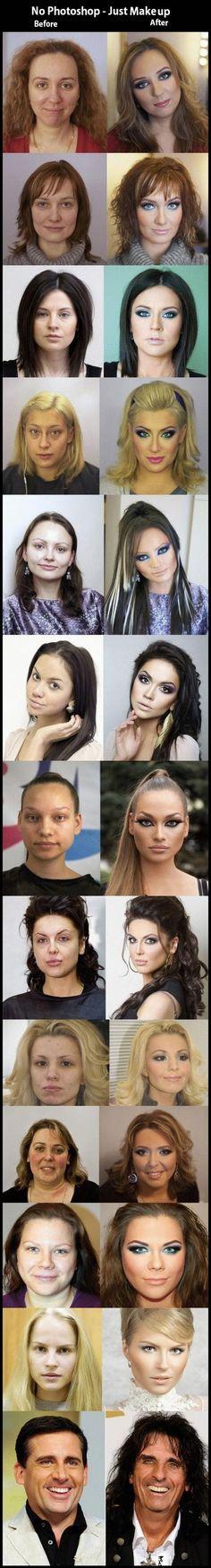 Makeup & Styling - Vorher und Nachher