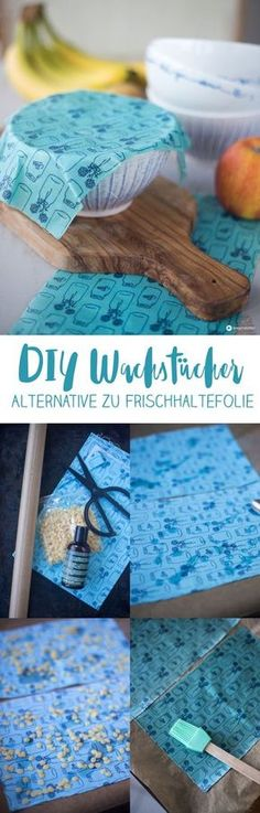 Make yourself DIY oil cloths – sustainable DIY – reusable alternative to cling film – instructions The post Make yourself DIY Wax Cloths – reusable cling film replacement appeared first on Garden ideas - Upcycled Home Decor Upcycled Home Decor, Upcycled Crafts, Diy And Crafts, Upcycled Clothing, Clothing Hacks, Wooden Crafts, Wooden Diy, Pasta Diy, Diy 2019
