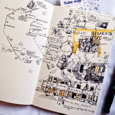 Love the idea of hand sketching a map of where you've been.
