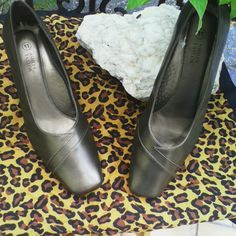 Dressy formal heels Formal heels, size 11 good condition except small scratch shown on pic 2  on the heel area & a small stain on the shoes. Other than that were hardly used have to many of the same  looking pairs these were stored in my closet. Perfect for women who get tired of walking in high heels yet love them , these are comfortable Ashley Taylor Shoes Heels