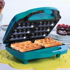 Waffle Iron in Turquoise.