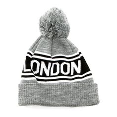London Beanie ($36) ❤ liked on Polyvore featuring accessories, hats, beanies, gorros, beanie hats, cotton hat, adjustable hats, cotton beanie and cotton beanie hats