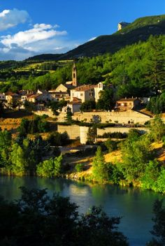 Scenic view on beautiful town of Sisteron in Provence, France.