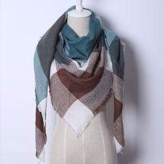 Fashion Brand Designer Cashmere Triangle Pink Scarf Winter Shawl Pashmina Blanket Plaid Design