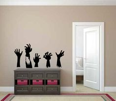 Zombie Hands Vinyl Wall Decal Sticker by LuckyLabradorsDecals