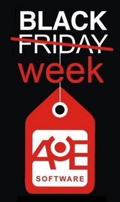 No te pierdas esta promoción de AUE SOFTWARE #BLACK WEEK con descuentos de hasta un 50% del 24/11/2014 al 29/11/2014 !