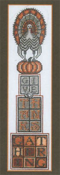 Stacked Turkey Thanksgiving is the title of this cross stitch pattern from Hinzeit.