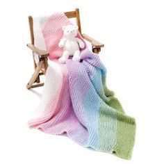 Mary Maxim - Gradient Garter Baby Blanket - Afghans - Baby