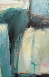 "Daily Painters Abstract Gallery: Contemporary Abstract Painting, ""Protection"" by Intuitive Artist Joan Fullerton"