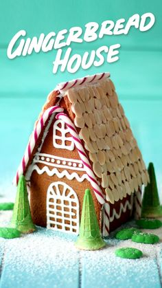 Forget the premade kit and make this homemade cottage style gingerbread house in. Homemade Gingerbread House, Cool Gingerbread Houses, Gingerbread House Designs, Gingerbread House Parties, Gingerbread Village, Christmas Gingerbread House, Gingerbread Cookies, Christmas Houses, Ginger Bread House Diy