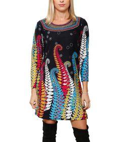 Another great find on #zulily! Navy & Red Fern Sweater Dress #zulilyfinds