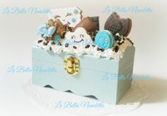 cajita galletas nube de arcilla polimerica Bella, Desserts, Food, Cloud, Polymer Clay, Cookies, Crates, Meal, Deserts