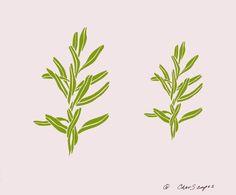 Stencil - Paint Stencil - Craft Stencil - Paper Crafts Stencil - Leaves - Vine - Wall Stencil - Fabric Painting Stencil - CherScapes Stencil