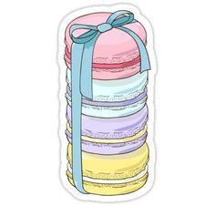 Pegatinas «Macarons present.» de LudaRu | Redbubble