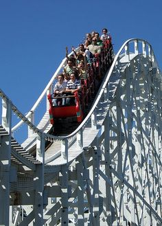 Luna Park, Melbourne Australia, the oldest world's continually-operating coaster, built 1912. Been there. Done that.