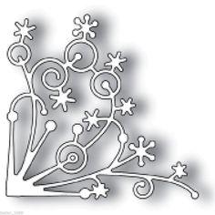 Memory Box Snowflake Corner Die Cutter 6cm x 5.5cm cut Christmas shape New