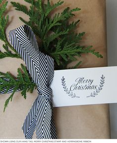 Celebrate Christmas & Chanukah. Add a little ribbon. Design: The Penny Paper Co.