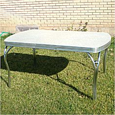 formica and chrome 1950s kitchen table with leaf a true classic - Formica Kitchen Table