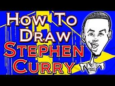 How to Draw a Quick Caricature Stephen Curry Splash Brothers part 2 - YouTube