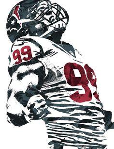 Jj Watt Houston Texans Pixel Art 6 Art Print by Joe Hamilton Houston Texans Football, Football Art, Pittsburgh Steelers, Dallas Cowboys, Texans Vs, Giants Football, Football Photos, Football Design, Sport Football