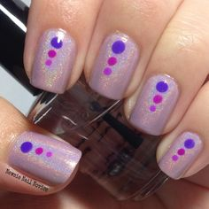 Purple three dot dotticure mani featuring polishes by Octopus Party Nail Lacquer, KBShimmer and Indigo Bananas