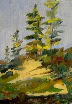 Tall Pines, painting by Delilah Smith