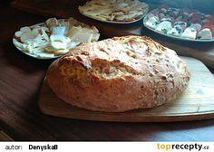 Skvělý domácí chleba z trouby, hotový za pár minutek recept - TopRecepty.cz Dumplings, Banana Bread, Food And Drink, Pizza, Desserts, Catalog, Tailgate Desserts, Deserts, Postres