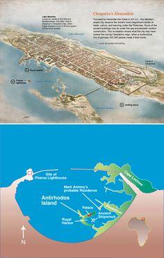 Cleopatra+underwater+palace | Sunken ruins of Cleopatra's palace, Alexandria, Egypt
