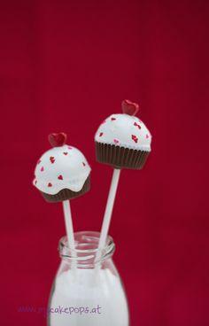 Cupcake Cake Pops, Valentines Day