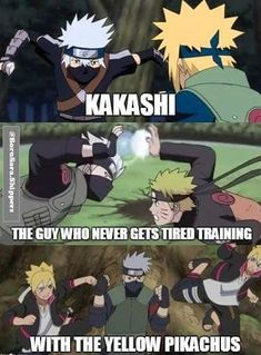 Kakashi training with Minato, Naruto and Boruto ❤️ 3 Generations ❤️❤️❤️