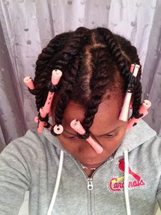 How to Flat Twist Natural Hair - Video Tutorial - the Maria Antoinette