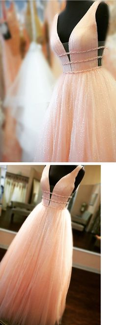princess pink long prom dress, 2018 prom dress party dress dancing dress