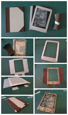 Make an altered Kindle Cover with Alberto's wonderful tutorial! He used French Country for this great project! #graphic45 #tutorials