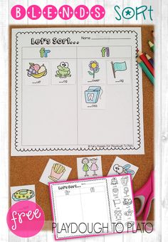 10 FREE Blend Sorts working on the most popular blends like CL-, SK- and FR-. These are perfect for kindergarten or first grade guided reading, literacy centers or word work. Fun blends activities for kids! First Grade Phonics, First Grade Reading, First Grade Classroom, Kindergarten Language Arts, Kindergarten Literacy, Literacy Centers, Reading Centers, Preschool, Literacy Stations