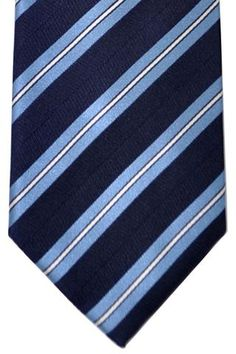 Ermenegildo Zegna COUTURE Tie Navy Blue Stripes