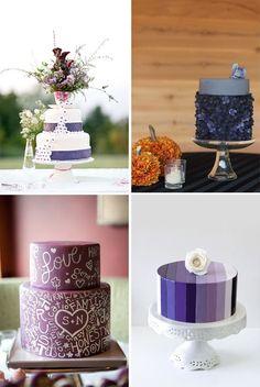 Ollage de tortas de boda en color púrpura - Свадебные торты фиолетового цвета | Модная свадьба