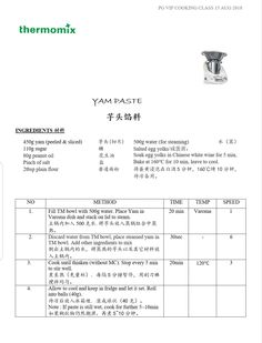 Yam paste for Mooncake Filling Cooking Classes, Cooking Tips, Cooking Recipes, Mooncake Recipe, Salted Egg Yolk, Peanut Oil, Moon Cake, Yams, Food To Make